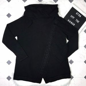 NWT croft & barrow black cowl neck sweater size XL